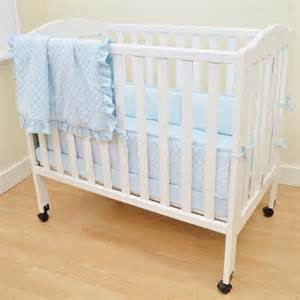Walmart Mini Crib American Baby Company Heavenly Soft Minky Dot 3 Mini Crib Bedding Set Blue Walmart