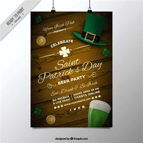 invitation illustrator template freebie 5 free flyer poster templates for st s day