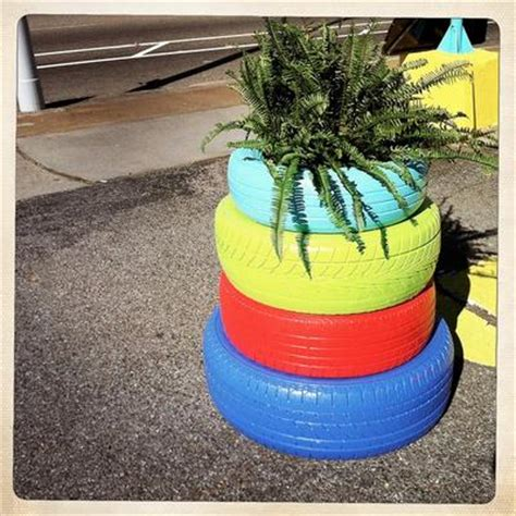 Used Planters by 11 Tire Planters With Diy Guide Patterns
