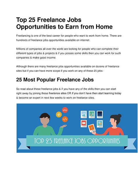 freelance powerpoint design jobs top 25 freelance jobs opportunities to earn from home