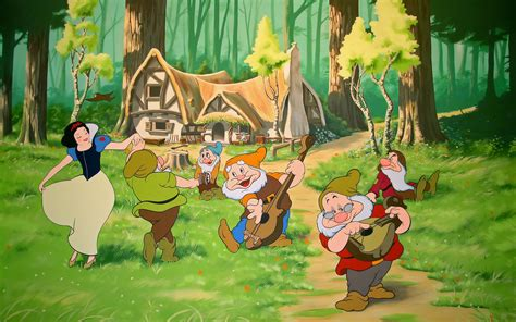 Disney Snow White Cottage by 35 Animation Wallpapers In High Definition For Desktops