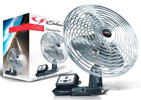 12 volt fans for cing 12v chrome fan with inline power switch