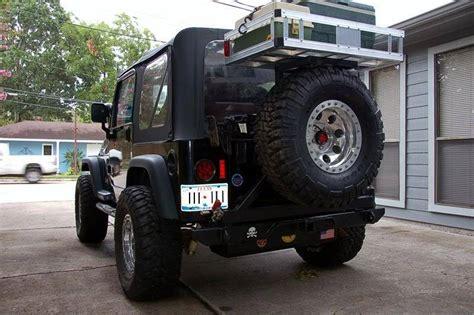 jeep  rear tire cargo rack jeepforumcom