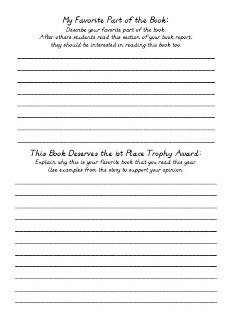 book report worksheet 5th grade book report 5th grade pdfeports867 web fc2