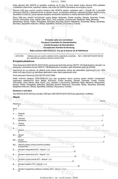 ČSN P CEN ISO/TS 25107 (015004) - Nedestruktivní zkoušení
