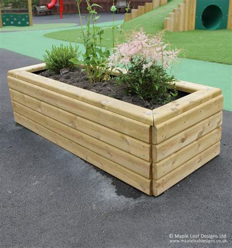 Rectangular Planter by Rectangular Planter Maple Leaf Designs