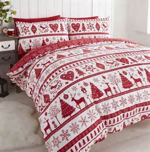 White Double Duvet Cover Set Noel Red Christmas Quilt Cover Set Bedding Sets