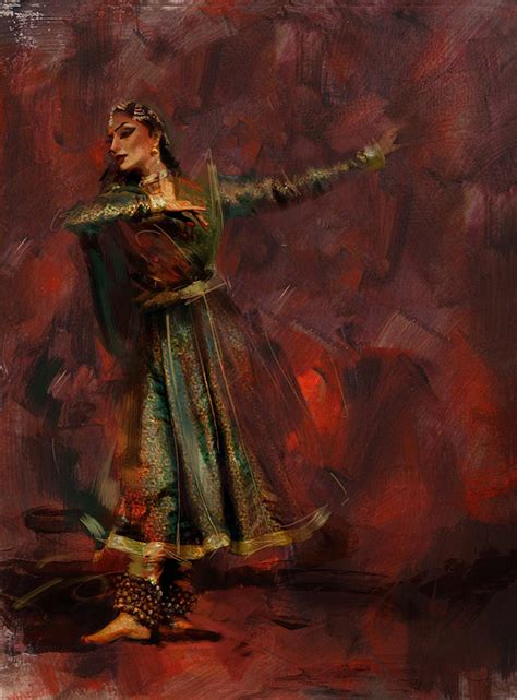 Blogs On Home Decor India Classical Dance Art 7 Painting By Maryam Mughal