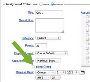 Assignment Editor by Credit In The Assignment Editor
