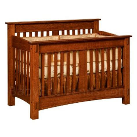 Handmade Cribs - solid wood cribs amish 4 in 1 convertible crib mccoy