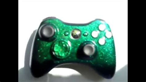 custom flip paint color changing xbox controller green to blue