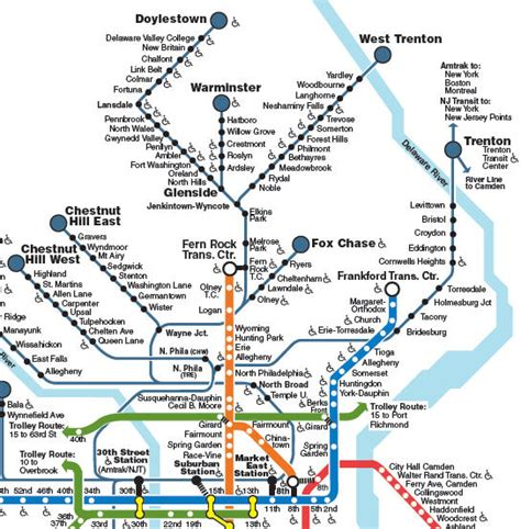 septa regional rail map learn about septa transport modes and passes