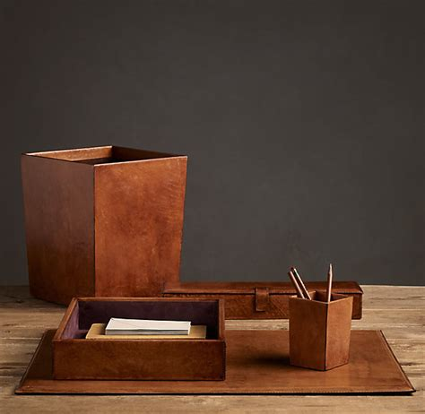 Desk Accessories Leather Leather Desk Accessories