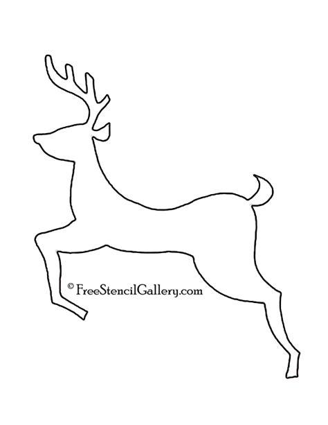 reindeer silhouette template reindeer silhouette stencil 06 free stencil gallery