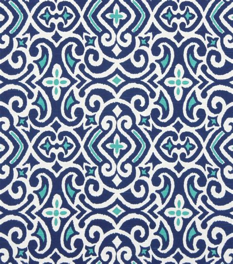 home decor print fabric robert allen new damask marine