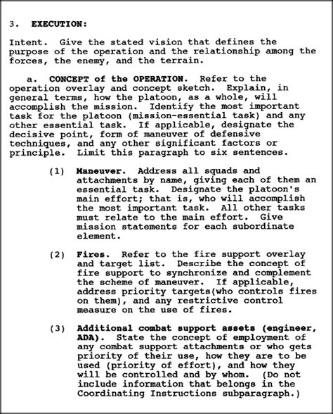 Exle Introduction Letter To Commanding Officer Operation Order Template In0541 Edition C Lesson 1 Operation Warning And Fragmentary Orders