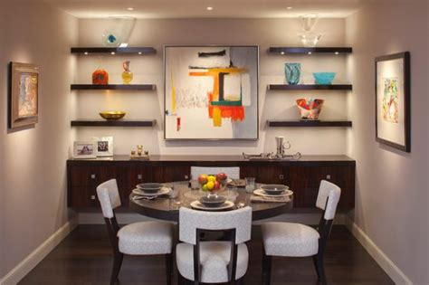 dining room wall shelves simple functional and space saving floating wall shelving