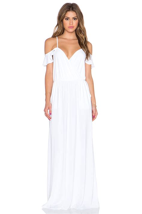 Cold Shoulder Maxi Dress t bags cold shoulder maxi dress in white lyst