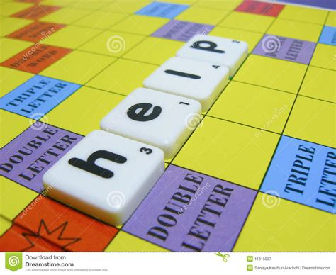 scrabble word assist scrabble tiles help royalty free stock photography