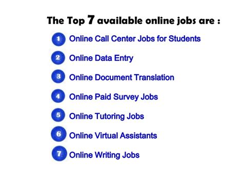 online student part time jobs