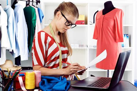 design clothes in computer fashion designer stock image image of computer material