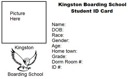 school id cards template school id cards templates pictures to pin on