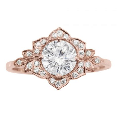 delicate ring deco flower ring gold