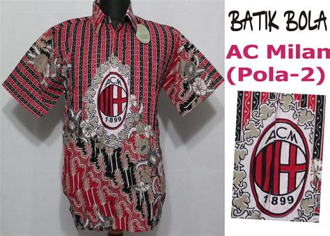 Baju Batik Inter Milan batik bola ac milan pola 2 jual batik bola murah jual batik bola jual batik bola