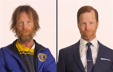 Homeless Haircuts Before And After   incredible time lapse shows homeless man s transformation