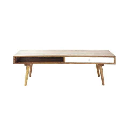 table en bois vintage table basse vintage en bois de sheesham l 120 cm andersen