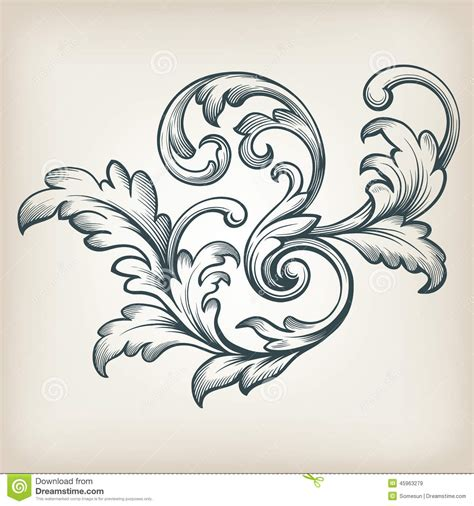 filigree tattoo designs vector vintage baroque border scroll design