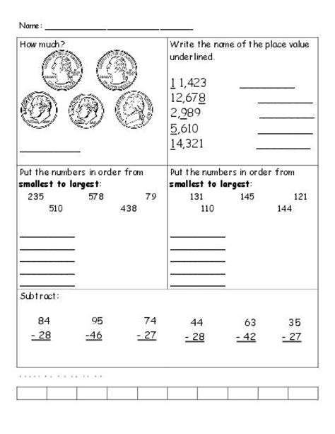 3rd Grade Math Review Worksheets by 12 Best Images Of Counting Money Worksheets 4th Grade