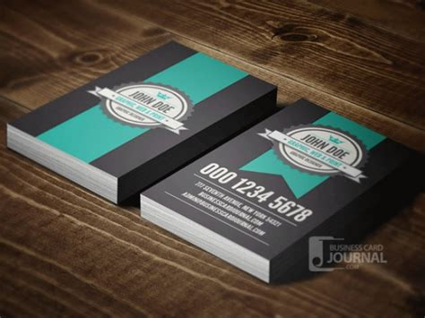 vintage business card template psd retro business card template psd psd file free