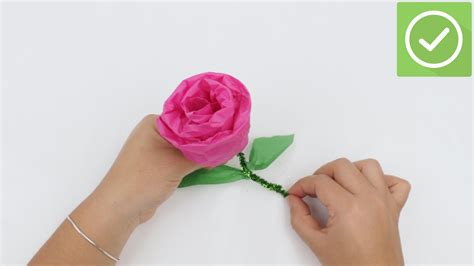 Make Tissue Paper Roses - 3 ways to make tissue paper roses wikihow
