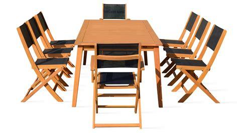 table de jardin et chaises salon de jardin 8 places en bois table et chaise