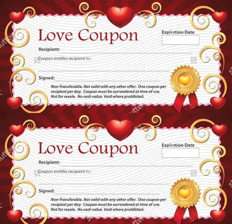 love coupon templates 26 free psd ai eps pdf format