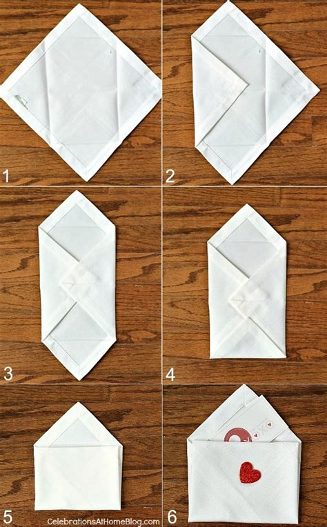 How To Fold Paper Into A Small Envelope - diy s day napkin envelopes celebrations at home