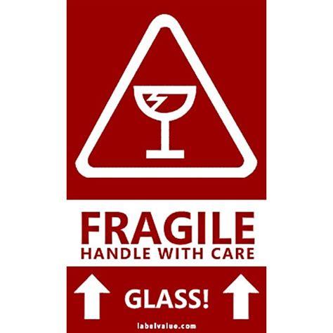Lakban Fragile Putih Kuat Handle With Care gambar panduan mula bisnes dropship pembungkusan produk