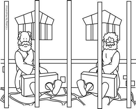 Church House Collection Blog Peter In Jail Coloring Page Paul And Silas Prison