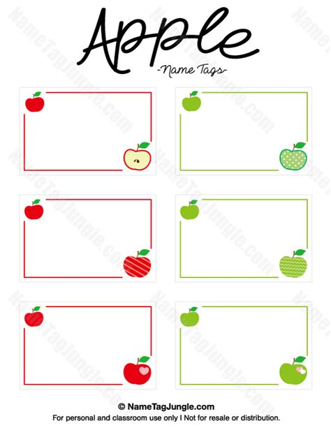 Free Place Card Template For Mac by Free Printable Apple Name Tags The Template Can Also Be