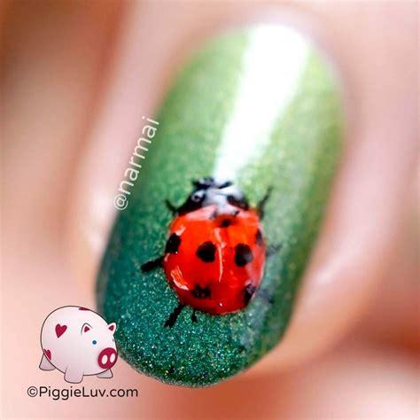 easy nail art ladybug freehand ladybug nail art ladybug nail art fast nail