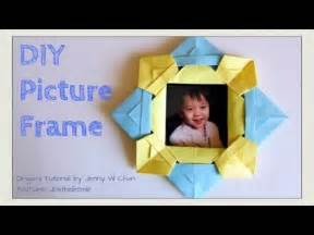How To Make A Paper Frame - paper crafts diy origami picture frame how to fold