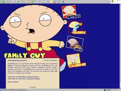 generator layout livejournal family guy ft stewie livejournal layouts createblog