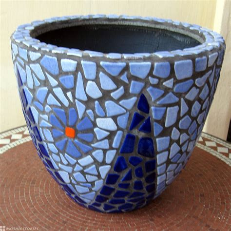 accessories flower theme mosaic plant pots for your