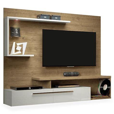 quarto de casal painel tv pain 233 is e televis 227 o painel para tv racks estantes toque a cainha
