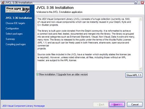 tutorial jedi delphi 델파이 jedi visual component library 설치하기 nightly
