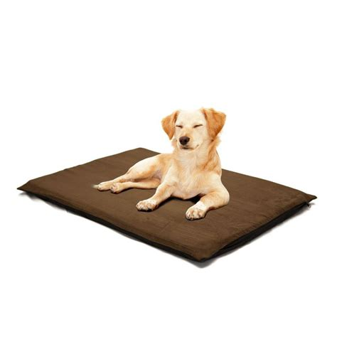orthopedic pet bed paw 2 in large suede espresso orthopedic foam pet bed 80
