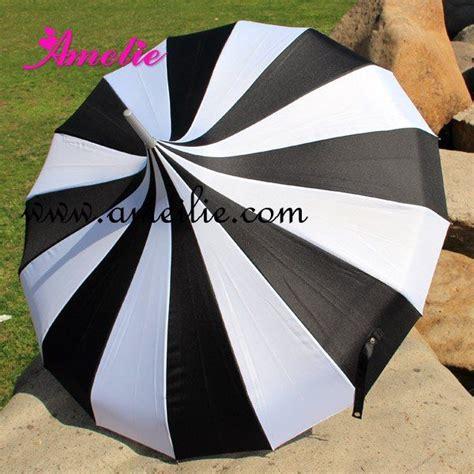 black pattern umbrella wholesale cheap straight pagoda umbrella black and white