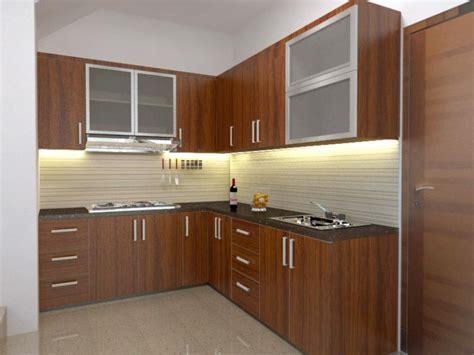 kitchen settings design berrumah minimalis 1 set lemari dapur