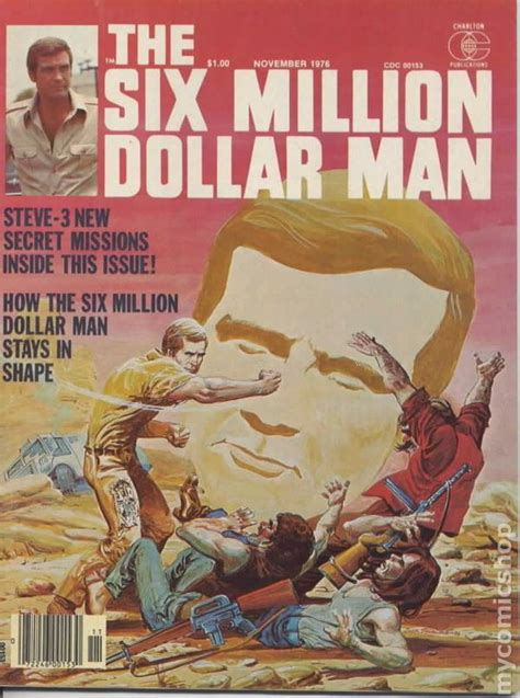 the million dollar books six million dollar 1976 magazine comic books